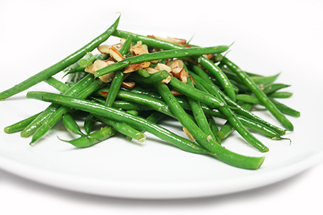 Los Angeles Salad Almond French Beans Recipe