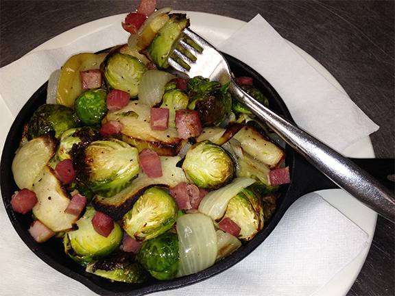 Roasted Brussel Sprouts with Pancetta Bacon