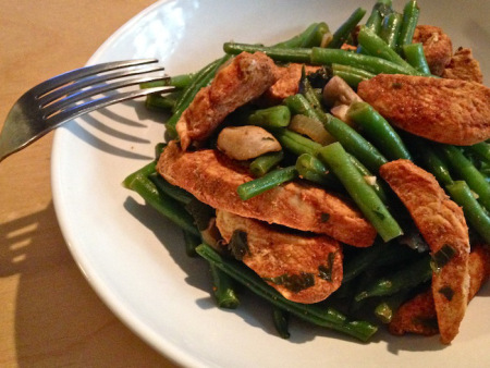 Paprika Chicken and French Green Beans